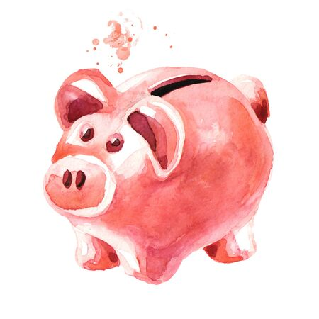 Pink cute pig money box.