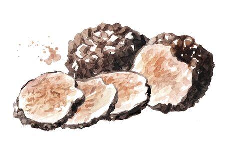 Black truffle mushrooms.