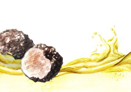 Truffle mushroom oil wave.