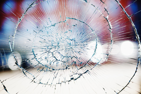 Broken window glass background Фото со стока - 33632807