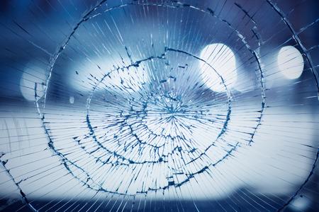 Broken window glass background, accident concept