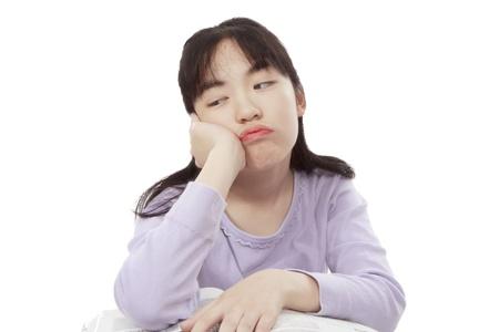 friendless: A cute and love Duzui Asian littie girl;A naughty Asian little girl