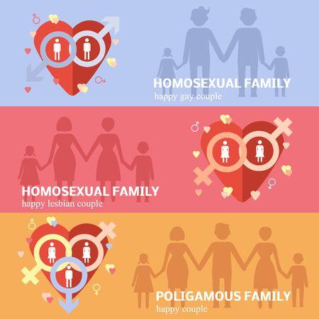 polygamy: Gay family flat