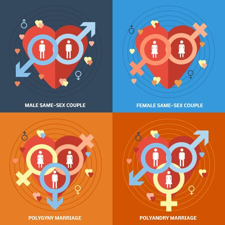 couple icons Illustration