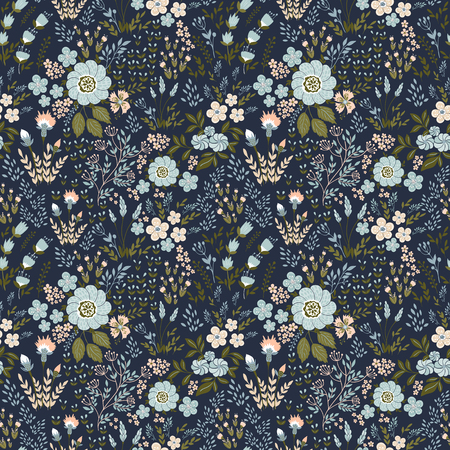 Vector seamless pattern with flowers 向量圖像
