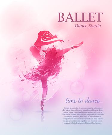 Ballet poster design Ilustracja