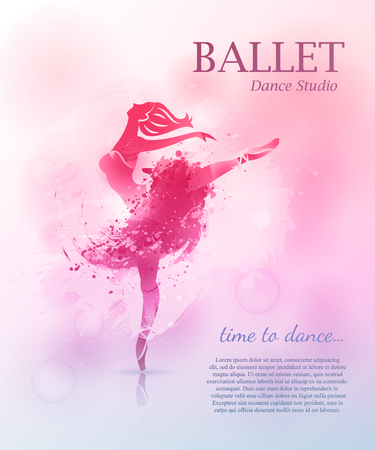 Ballet poster design Stock Illustratie