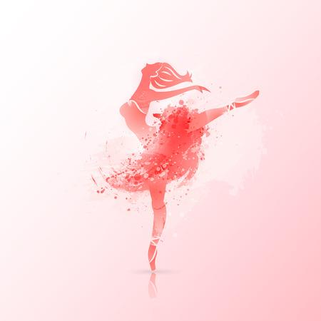Design d'affiche de ballet