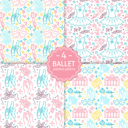 Ballet seamless patterns