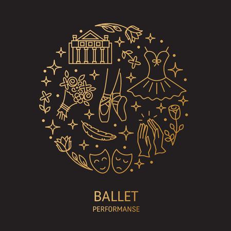 zapatos escolares: Logotipo de rendimiento de ballet Foto de archivo