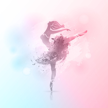 Ballerina in dance background