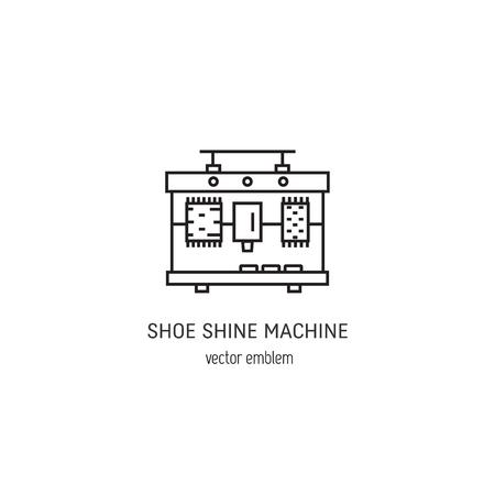 Shoe shine machine logo Illustration