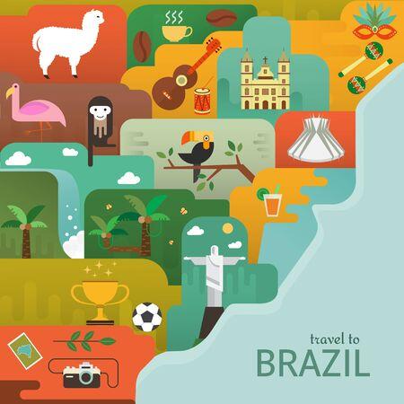 Brazilië kaart concept