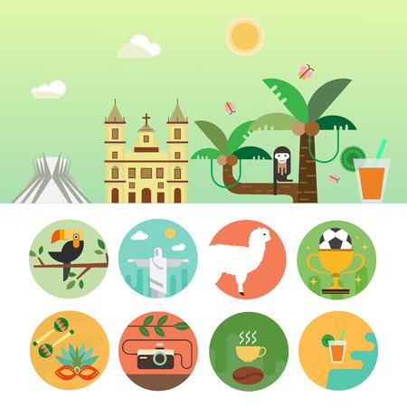 Brazil travel concept Illustration