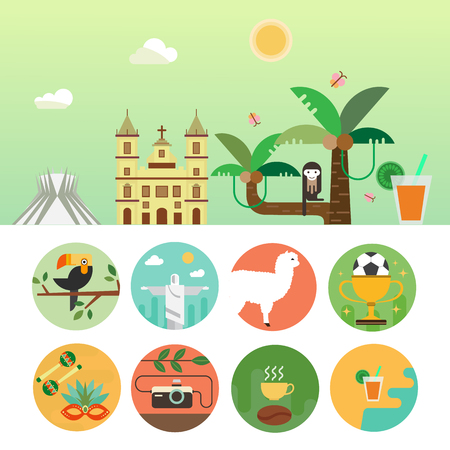 Brazilië reis concept