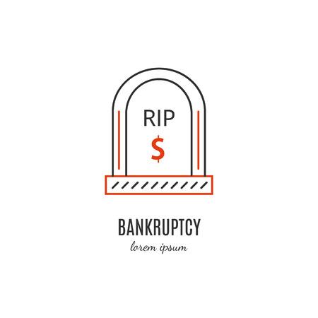 bankrupt: Economic crisis icon