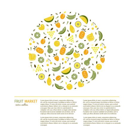 Fruit circle concept
