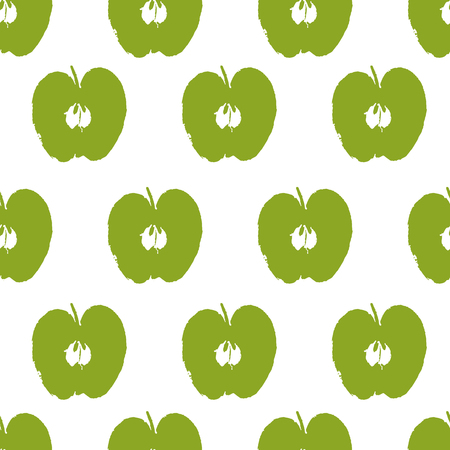 Apple seamless pattern Illustration