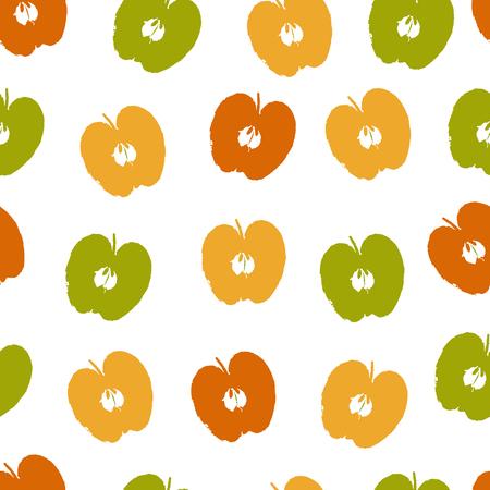 passion  ecology: Apple seamless pattern Illustration