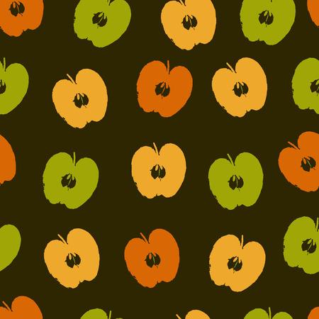 Apple seamless pattern Illustration