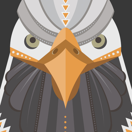 Bald eagle in flat style