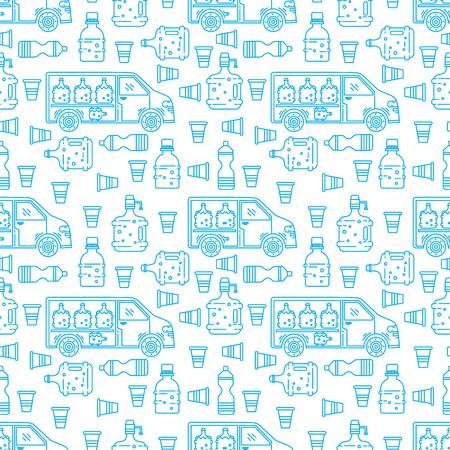 Plastic bottle design. Illustration