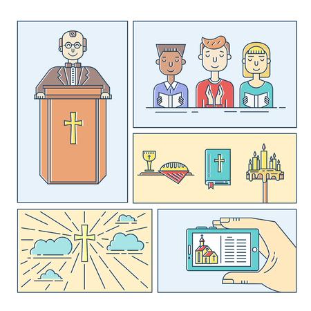 Christianity line set
