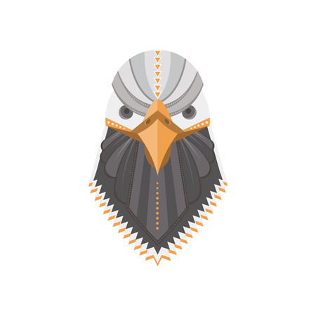 Portrait of a bald eagle made in trendy flat style.