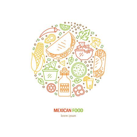Mexicaans eten pictogrammen