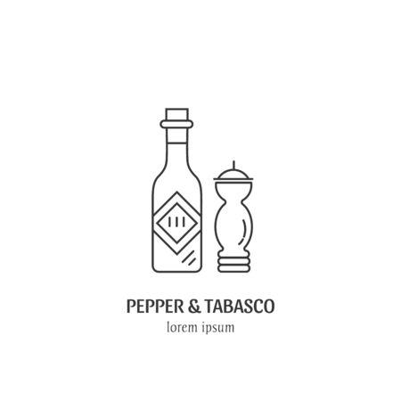 Pepper and tabasco design Illustration