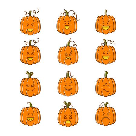 Halloween pumpkin set Illustration