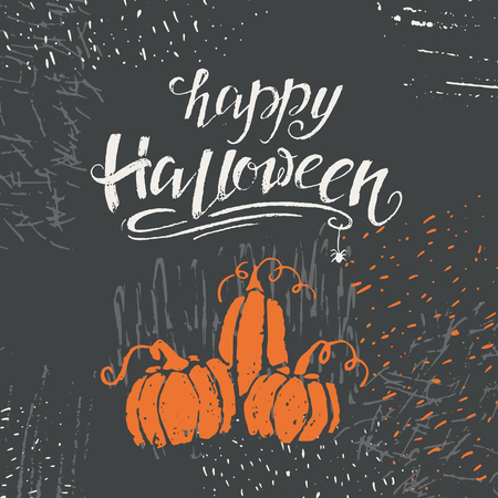 a vector halloween lettering greeting card spooky halloween