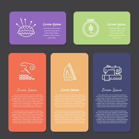 Vector Hand made banners and flyers Illustration
