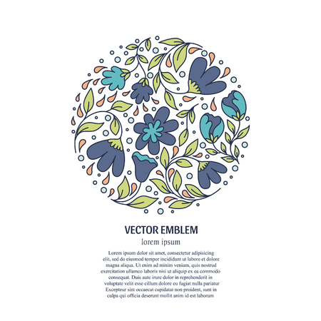 Circle with flowers Illustration