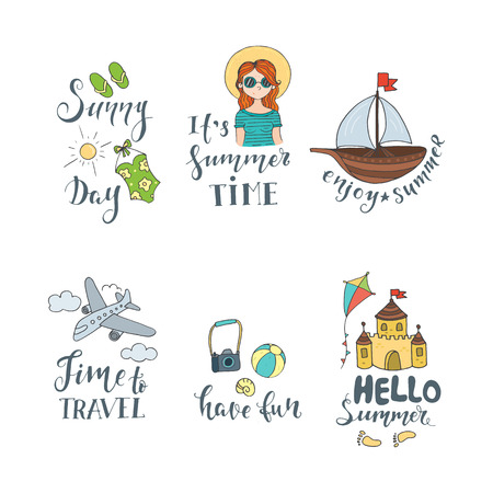 Vector  illustrations with summer elements