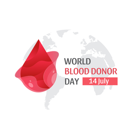 Vector World blood donor day - June 14. poster