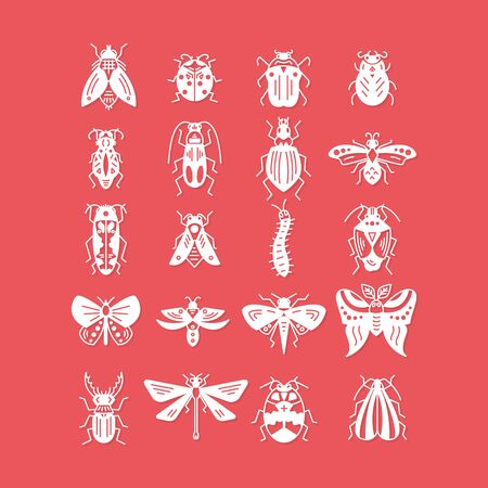 Bugs and insects icon isolated on background
