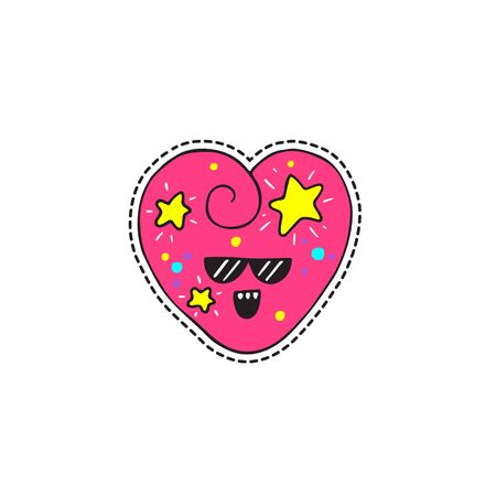 Vector illustration in patch or sticker style isolated on white background. Great design for embroidery, sticker or pin