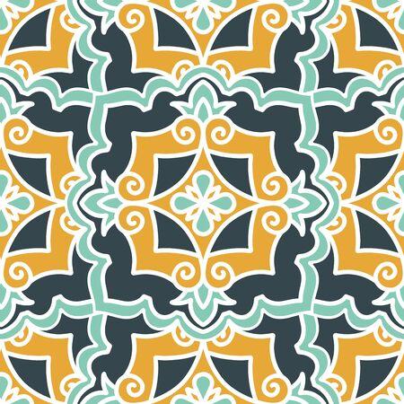 Seamless pattern with Arabic and Asian motifs Ilustracje wektorowe