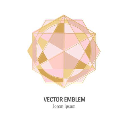 Colorful diamond icon on the white background Ilustracja