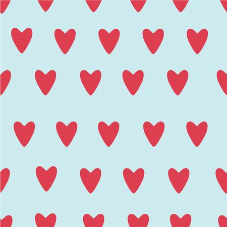 hand painted vector hearts pattern for valentine's day. Romantic blue, pink heart for wedding cards, holiday cards, greeting cards, posters, books, envelopes, photo album.