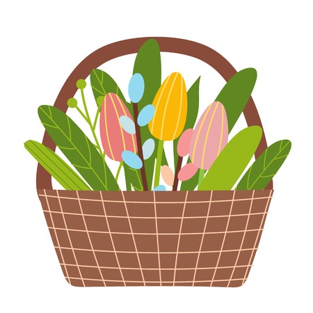 Easter vector elements of spring flowers