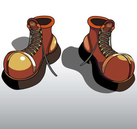 Grunge boots cartoon.