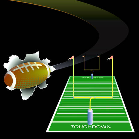 American football background. Vector