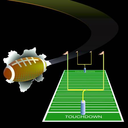 goalpost: American football background.
