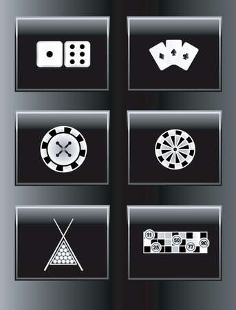 game of pool: Leisure games icon set. Illustration