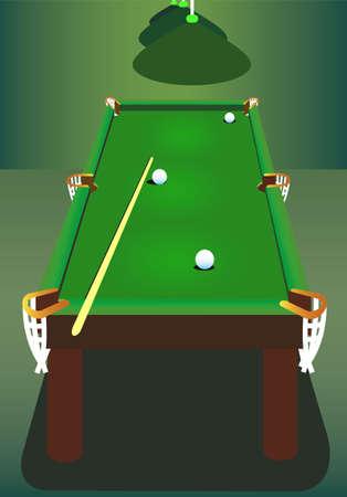 snooker room: Tavolo da biliardo in camera speciale. Vettoriali