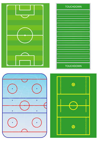 Soccer, hockey and else fields schemes.  Vector