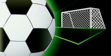 soccer net: Soccer abstract background. Illustration