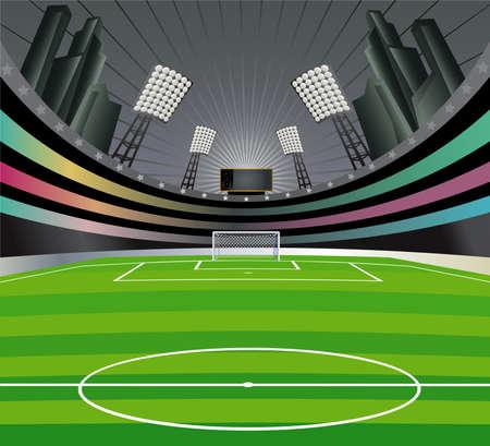 soccer stadium: Fondo abstracto de estadio de f�tbol. Vectores